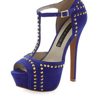Astrro Studded Platform Pump, Blue