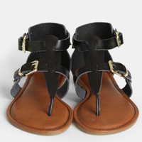Jezebel Buckled Sandals - $35.00 : ThreadSence, Women&#x27;s Indie &amp; Bohemian Clothing, Dresses, &amp; Accessories