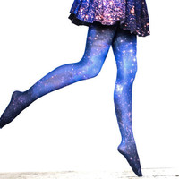 Galaxy Tights Magellanic Cloud Nebula Space Sheer Leggings