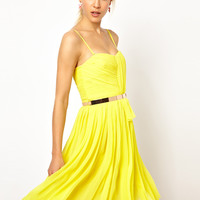 Chiffon Drape Bustier Dress