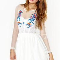 Secret Garden Dress - White