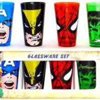 Marvel, Glass Mug Set, Heroes