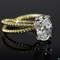 Oval Set Diamond Engagement Ring | 14602