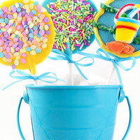 1 Dozen Spring Time Solid Chocolate Lollipops | Luulla