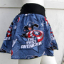 Captain America retro Comic Skirt shirt S-XL DiY geek derby Marvel Avenger