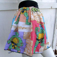 Teenage Mutant Ninja Turtles TuTu Skirt shirt S-1XL TMNT punk vintage Custom DiY