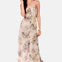 Costa Blanca Juliette Chiffon Floral Print Maxi Dress