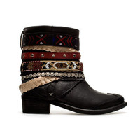 STRAPPY ETHNIC ANKLE BOOT - Shoes - TRF - ZARA Ireland