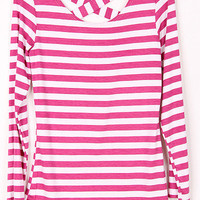 Striped Criss Cross Top