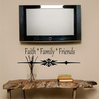 Wall Decal Faith Family Friends Quote Inspirational Vinyl Wall Art