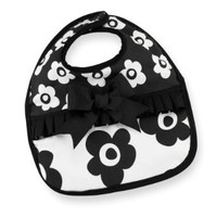 Mud Pie Baby-girls Newborn Tres Jolie Bib, Black/White, One Size: Clothing
