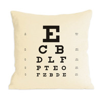 Supermarket - Eye Chart Pillow from Heather Lins Home