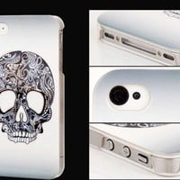 Garceful White Skull Hard Cover Case For Iphone 4/4s