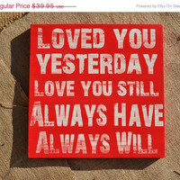 FLINGintoSPRING Sale Loved You Yesterday Love by everlastingdoodle