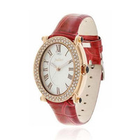 Luxury Rhinestone-Studded Patent Leather Watch