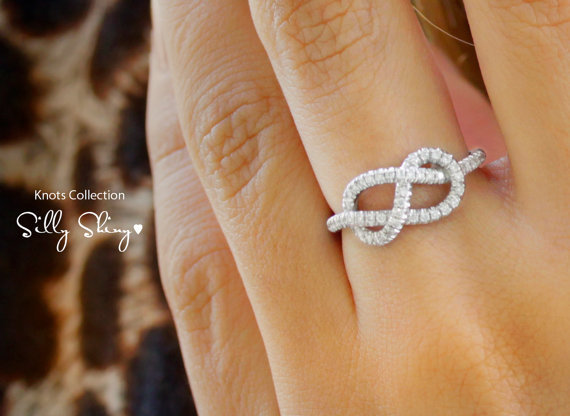 Infinity Knot Diamond Ring by SillyShiny on Etsy
