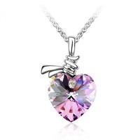 SWAROVSKI ELEMENTS Design Listen to My Heartbeat Necklace