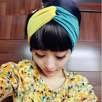 Fashion  Two Color  Hair hoop scarf