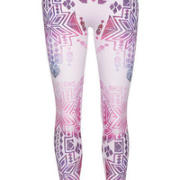 Purple Geo Printed Seamless Legging