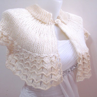 Wedding Shrug - Ivory Shrug - Wedding Bolero Shrug, Women,  Bridal Shrug, Bolero, Wedding, Romantic, Ivory, Cream, Beaded