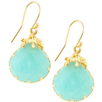 Small Drop Mint Earrings