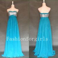 2013 style Gorgeous A-Line Peaches Evening prom dresses from fashionforgirls