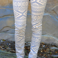 Everlasting Tribal Pants: Pale Apricot/Grey | Hope's