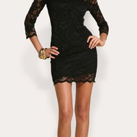 SO CHIC ALL LACE LITTLE BLACK DRESS