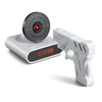 Gun O`Clock Shooting Alarm clock (White): Home &amp; Kitchen