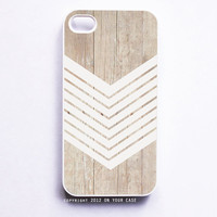 iPhone 4 Case Wood Geometric White Minimalist