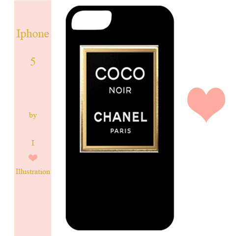Iphone 5 Case - Chanel Coco Noir - from IHeartIllustration ...
