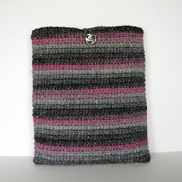 Crochet iPad Case/ Cozy/ Sleeve, also fits 9 inch Kindle or 9 inch Nook Tablets