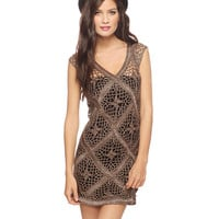 Metallic Crochet Dress | FOREVER21 - 2008585959