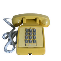 Vintage Telephone Yellow - Push Button Western Electric by Bell Systems - Works