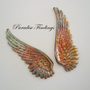BRASS RAINBOW WINGS Great Ear Ring Or by ParadiseFindings on Etsy