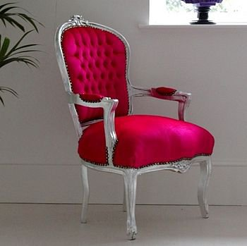 anabelle hot pink armchair by out there interiors | notonthehighstreet.com