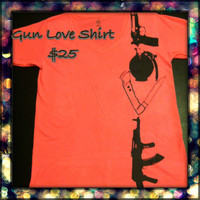 Weapon Love T Shirt Custom All sizes by LeiaLove00 on Etsy