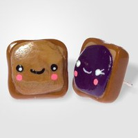 smiley PB+J earrings