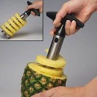 Stainless Steel Pineapple Easy Slicer, Corer: Kitchen & Dining