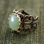 Adventurine Filigree Ring
