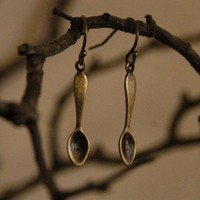 Little Brass Teaspoon Earrings