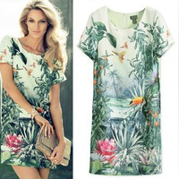fashion  print dress FSQZ332