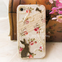 Original Retro Rabbit Lace Phone Case