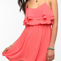 Pins And Needles Silky Ruffled Layer Dress
