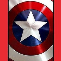 Personalized Captain america Shield Apple On iPhone 4 Case, iPhone 4s Case, iPhone Case-plasic hard Iphone cover iphone 4s cover