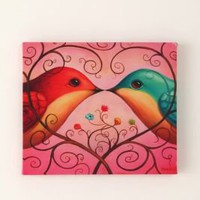 Love Birds Wall Art by Chris Buzelli 14x12
