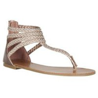 Riverberry Women's 'Sloane' Rose Gold Gladiator Sandals | Overstock.com