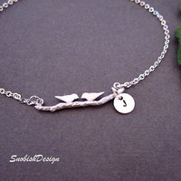 Personalized Jewelry Love Birds Bracelet Hand by SnobishDesign