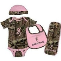Browning Baby Camo Set - 4 Piece: Clothing