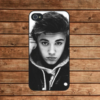 iphone 4 case,iphone 4s case,iphone 4 cover--Justin Bieber,in plastic or silicone case
